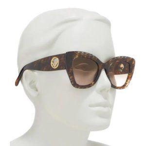 $228 *NEW* F IS FENDI Havana FF 52mm sungla